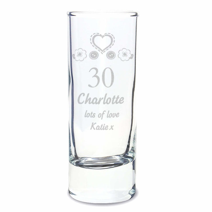 Personalised Birthday Craft Shot Glass Engraved-Glassware-Give Personalised Gifts