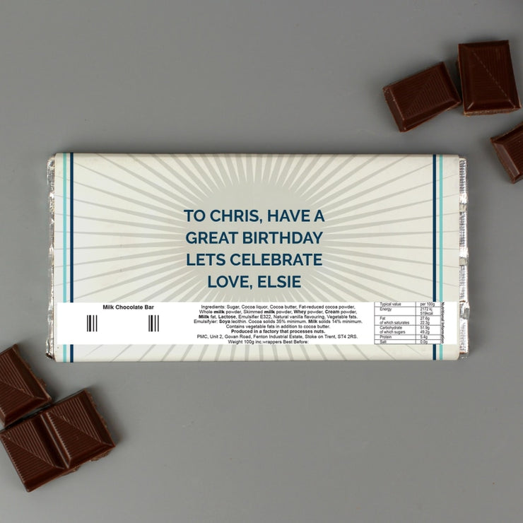 Personalised Birthday Milk Chocolate Bar-Chocolate Bar-Give Personalised Gifts