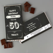 Personalised Birthday Vintage Typography Milk Chocolate Bar-Chocolate Bar-Give Personalised Gifts