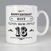 Personalised Birthday Vintage Typography Mug-Mugs-Give Personalised Gifts