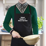 Personalised Black Apron-Apron-Give Personalised Gifts