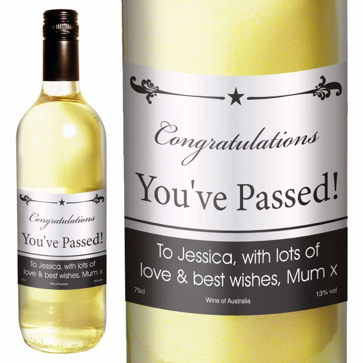 Personalised Black Border White Wine-Beverage & Accessories-Give Personalised Gifts