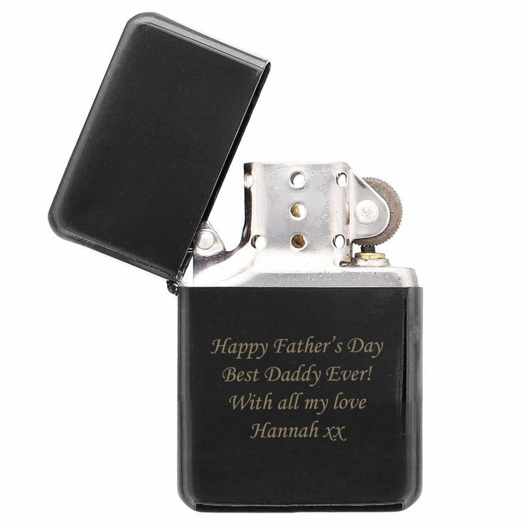 Personalised Black Lighter-Lighter-Give Personalised Gifts