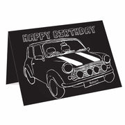 Personalised Black & White Mini Card-Personalised Cards-Give Personalised Gifts