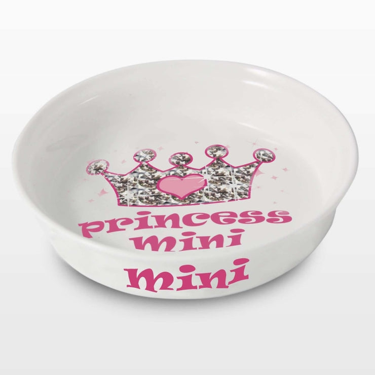 Personalised Bling Princess Pet Bowl-Pet Accessories-Give Personalised Gifts