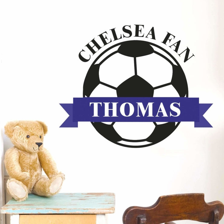 Personalised Blue Football Wall Art-Wall Art-Give Personalised Gifts