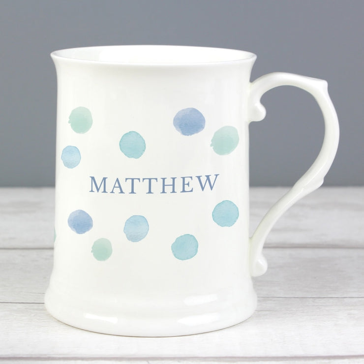 Personalised Blue Spot 15oz Mug-Mugs-Give Personalised Gifts