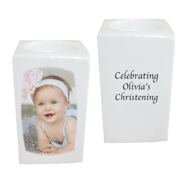 Personalised Bone China Photo Tea Light Holder-Candles & Holder-Give Personalised Gifts