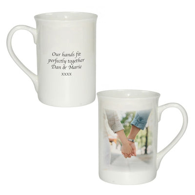 Personalised Bone China Photo Windsor Mug-Mugs With Photos-Give Personalised Gifts