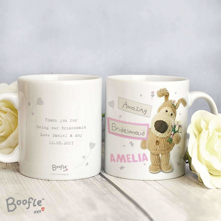 Personalised Boofle Female Wedding Mug-Mugs-Give Personalised Gifts