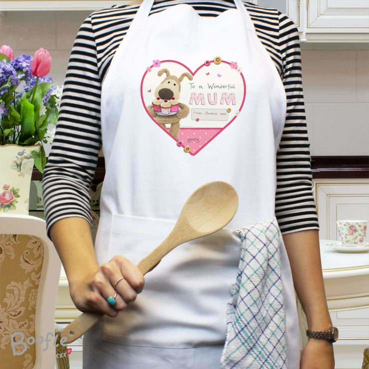 Personalised Boofle Flowers Apron-Apron-Give Personalised Gifts