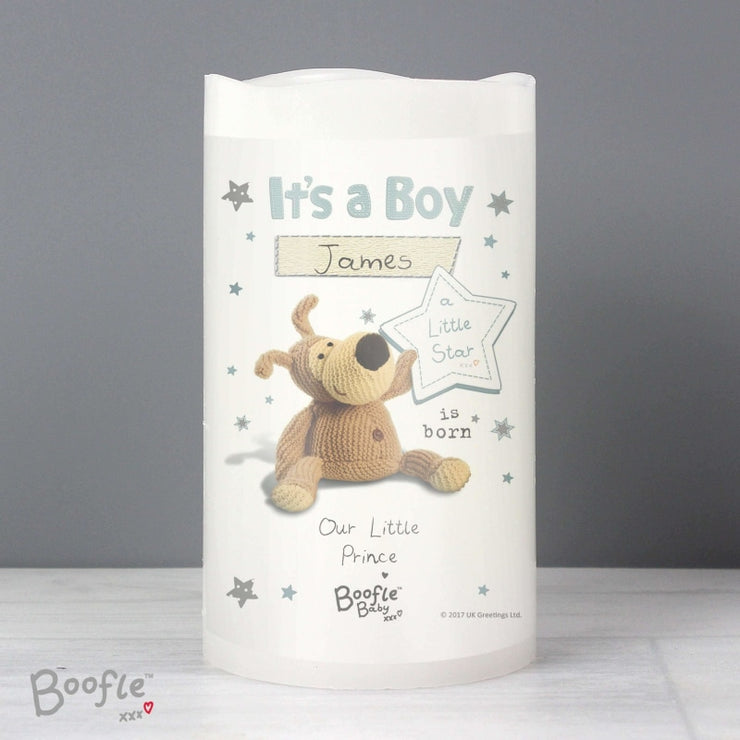 Personalised Boofle It's a Boy Nightlight LED Candle-Candles & Holder-Give Personalised Gifts