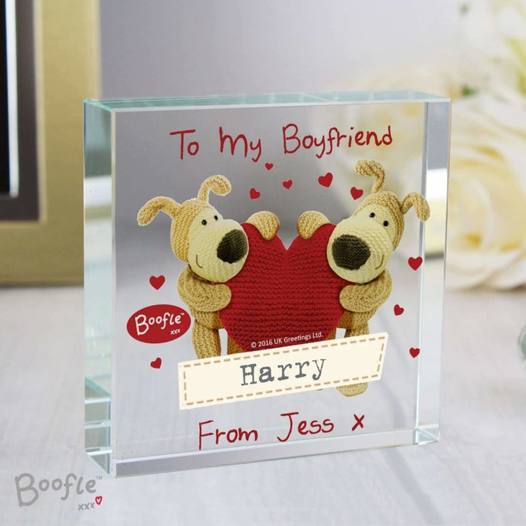 Personalised Boofle Shared Heart Large Crystal Token-Crystal Token-Give Personalised Gifts