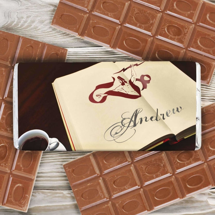 Personalised Book Illustration Milk Chocolate Bar-Books-Give Personalised Gifts