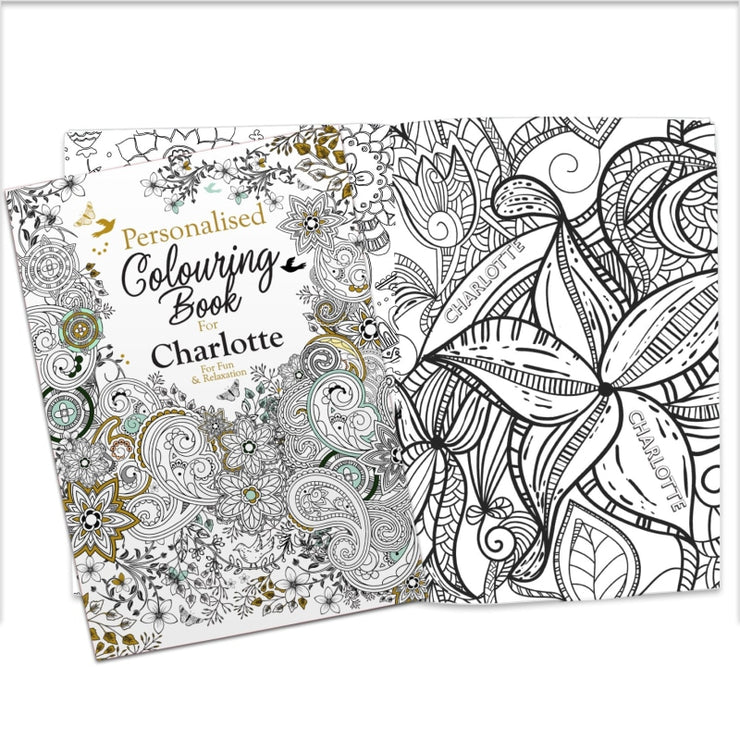 Personalised Botanical Colouring Book-Colouring Book-Give Personalised Gifts