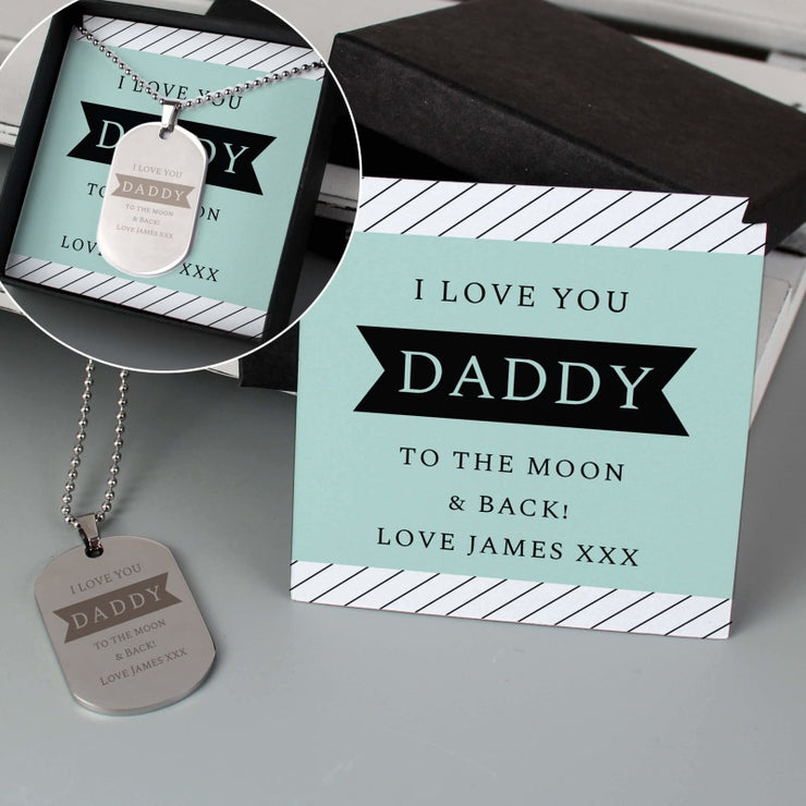 Personalised Box With Dog Tag Necklace For Men-Jewellery-Give Personalised Gifts
