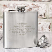 Personalised Boxed Stainless Steel Hip Flask-Hip Flask-Give Personalised Gifts