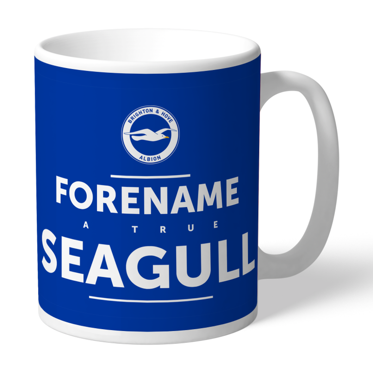 Personalised Brighton & Hove Albion FC - True Seagull Mug-Mugs-Give Personalised Gifts
