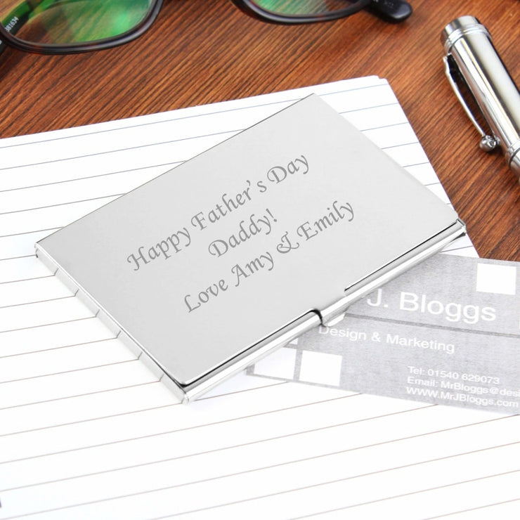 Personalised Business Card Holder-Stationary & Accessories Set-Give Personalised Gifts
