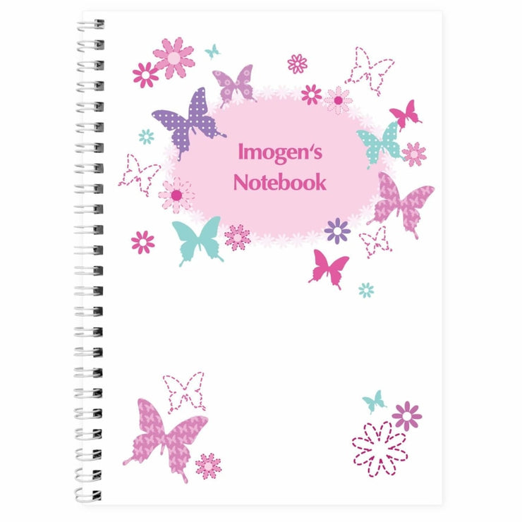 Personalised Butterfly A5 Notebook-Notebook-Give Personalised Gifts