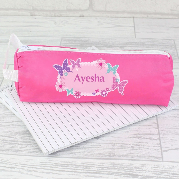 Personalised Butterfly Pencil Case-Stationary & Accessories Set-Give Personalised Gifts