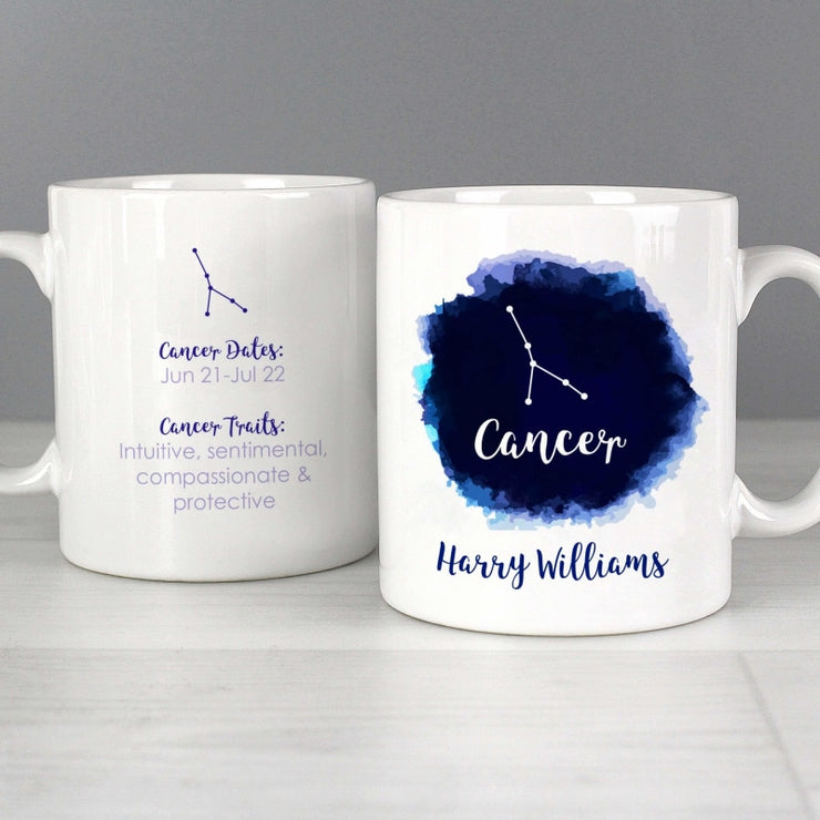 Personalised Cancer Zodiac Star Sign Mug (June 21st - July 22nd)-Mugs-Give Personalised Gifts