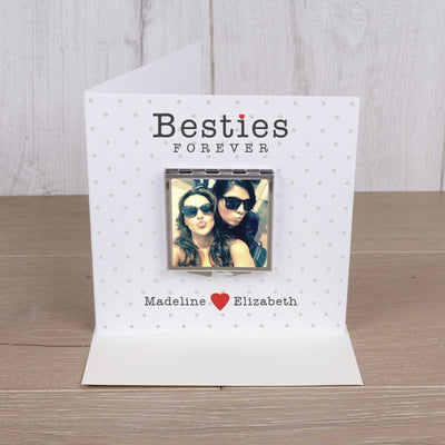Personalised Card with Compact Mirror - Besties-Compact Mirror-Give Personalised Gifts