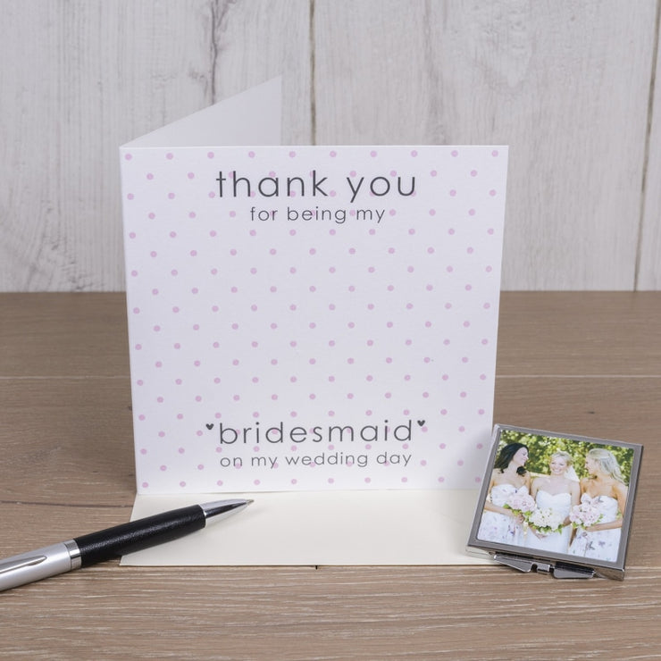 Personalised Card with Compact Mirror - for Bridesmaid-Compact Mirror-Give Personalised Gifts