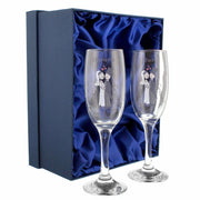 Personalised Cartoon Couples Pair of Flutes with Gift Box-Flute-Give Personalised Gifts