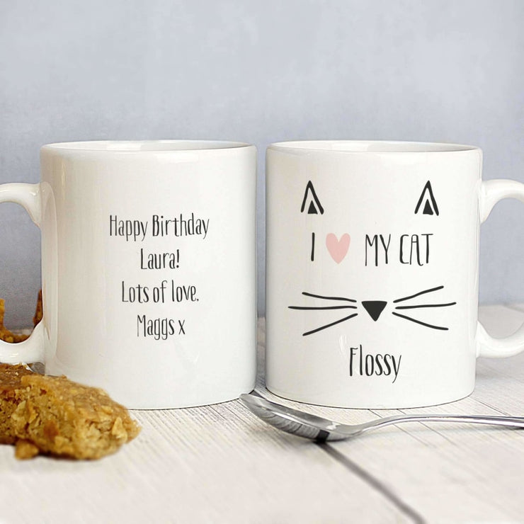 Personalised Cat Features Mug-Mugs-Give Personalised Gifts
