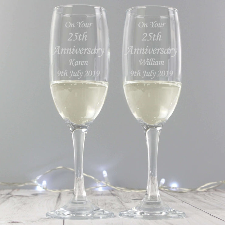 Personalised Celebration Pair of Flutes with Gift Box-Flute-Give Personalised Gifts