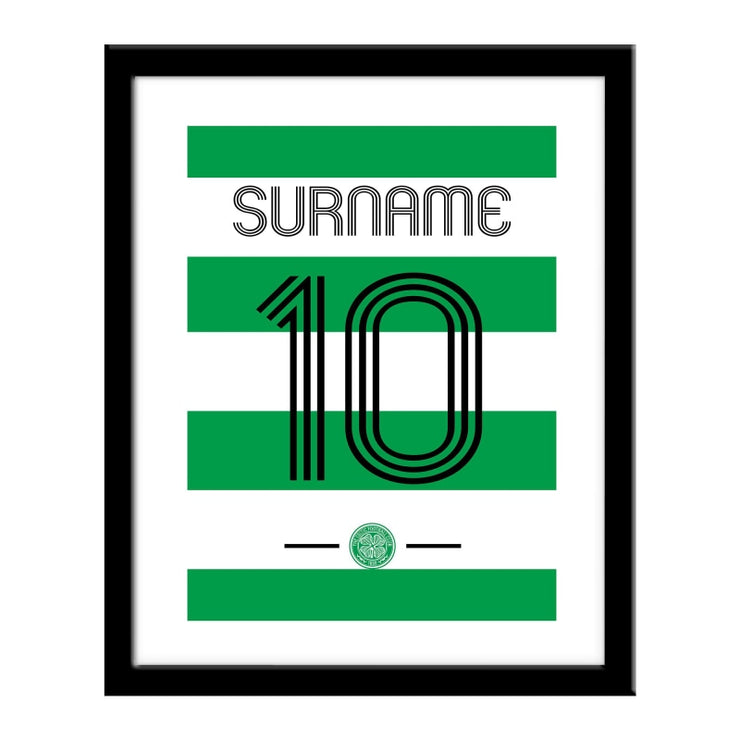 Personalised Celtic FC Retro Shirt Print