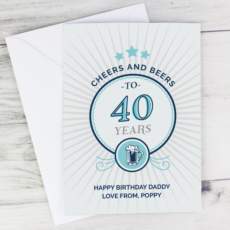 Personalised Cheers and Beers Birthday Card-Personalised Cards-Give Personalised Gifts