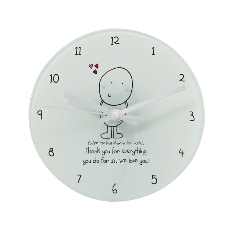 Personalised Chilli & Bubbles Mother's Day Round Clock-Clock-Give Personalised Gifts