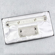 Personalised Christening Silver Plated Certificate Holder-Certificate Holder-Give Personalised Gifts