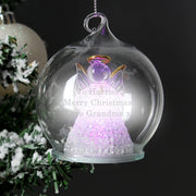 Personalised Christmas Message LED Angel Bauble-Bauble-Give Personalised Gifts