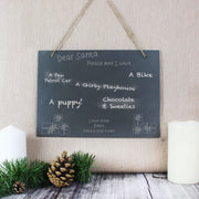 Personalised Christmas Wish List Hanging Large Slate Sign-Signs-Give Personalised Gifts
