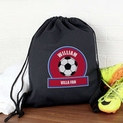 Personalised Claret and Blue Football Fan Swim & Kit Bag-Swim and Kit Bags-Give Personalised Gifts