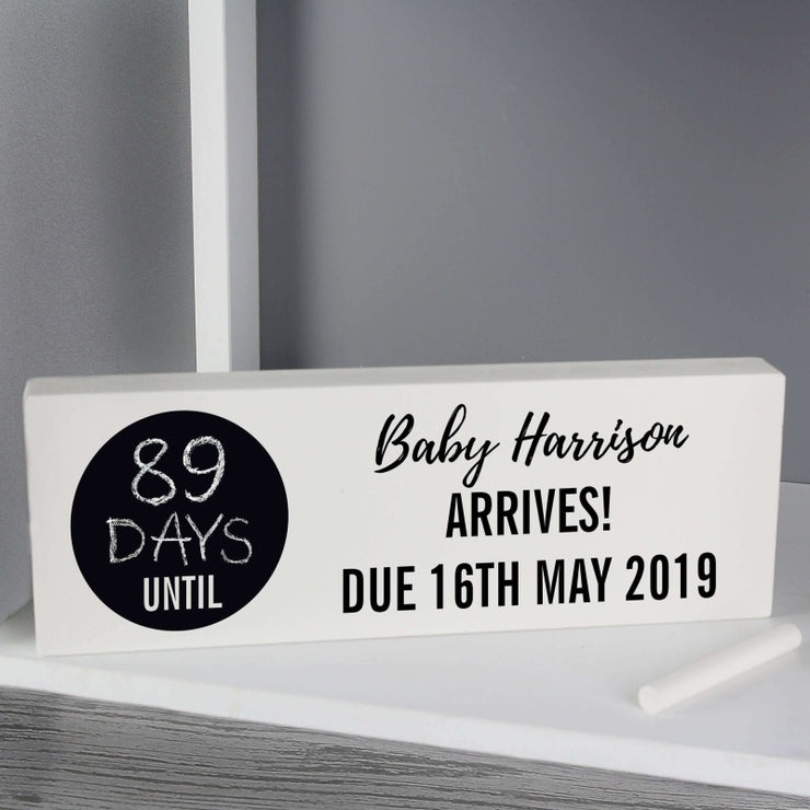 Personalised Classic Chalk Countdown Wooden Block Sign-Wooden Sign-Give Personalised Gifts