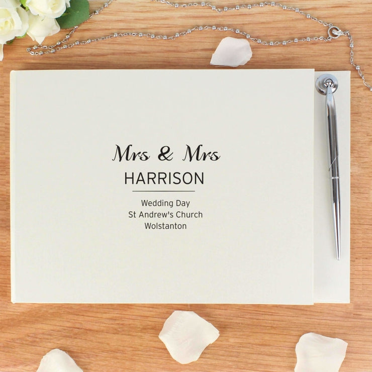 Personalised Classic Guest Book & Pen-Guest Book-Give Personalised Gifts