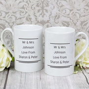 Personalised Classic Mr Right/Mrs Always Right Mug Set-Mugs-Give Personalised Gifts