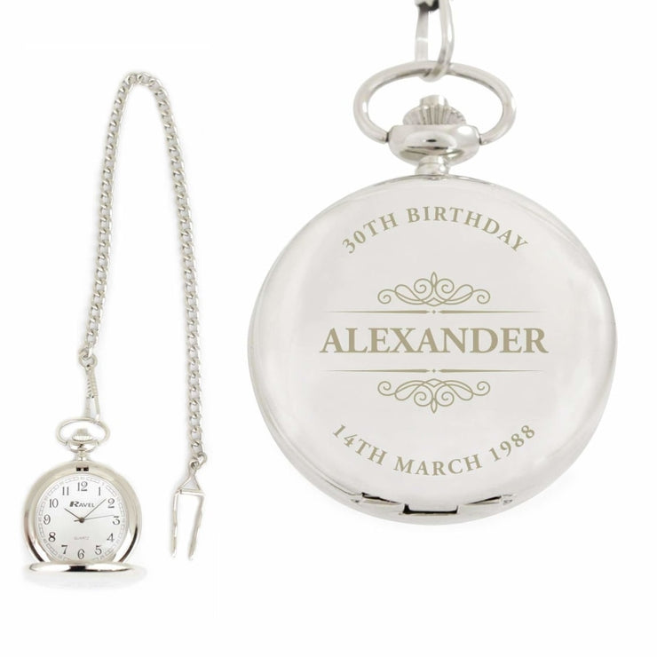 Personalised Classic Pocket Fob Watch-Watch-Give Personalised Gifts