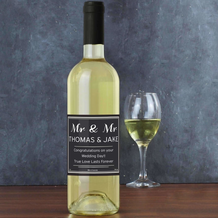 Personalised Classic White Wine-Wine-Give Personalised Gifts