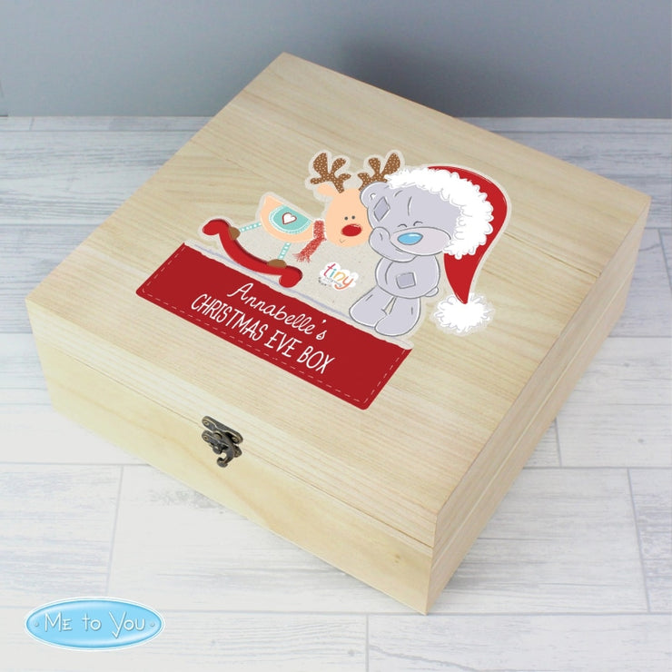 Personalised Colourful Tiny Tatty Teddy Large Wooden Christmas Eve Box-Christmas Eve Box-Give Personalised Gifts