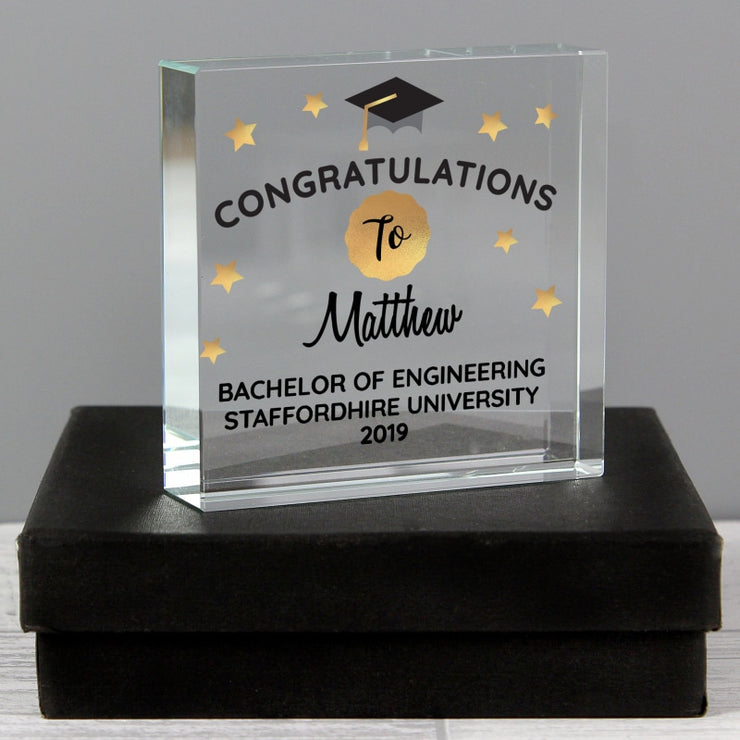 Personalised Congratulations Graduation Large Crystal Token-Crystal Token-Give Personalised Gifts