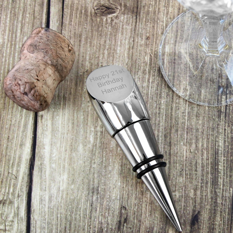 Personalised Contemporary Wine Stopper-Bottle Stopper-Give Personalised Gifts