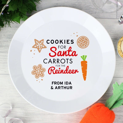 Personalised Cookies for Santa Christmas Eve Plastic Plate-Kids Cutlery-Give Personalised Gifts