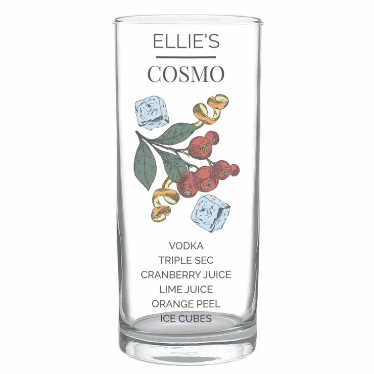 Personalised Cosmo Hi Ball Cocktail Glass-Glassware-Give Personalised Gifts
