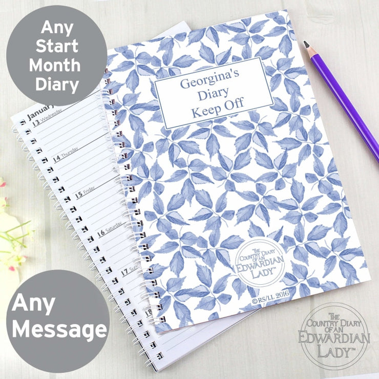 Personalised Country Diary Blue Blossom A5 Diary-Diary-Give Personalised Gifts