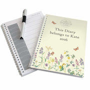 Personalised Country Diary Wild Flowers A5 Diary-Diary-Give Personalised Gifts